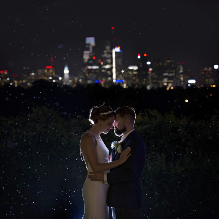 philadelphia skyline wedding