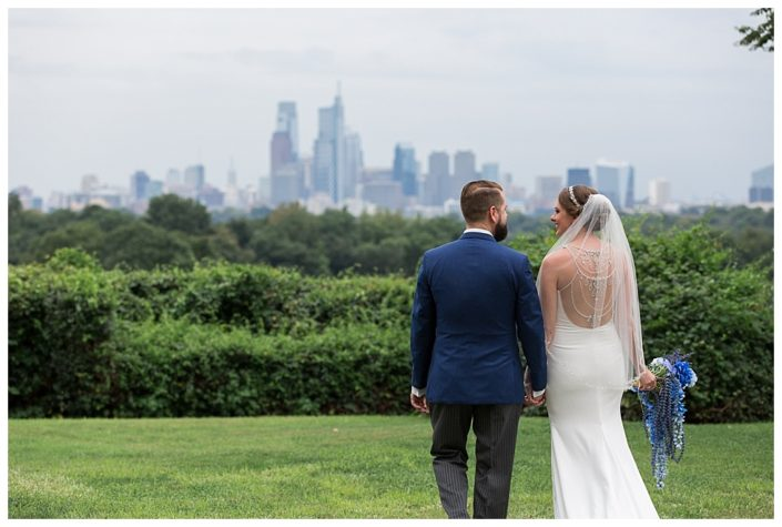 philadelphia skyline wedding photos