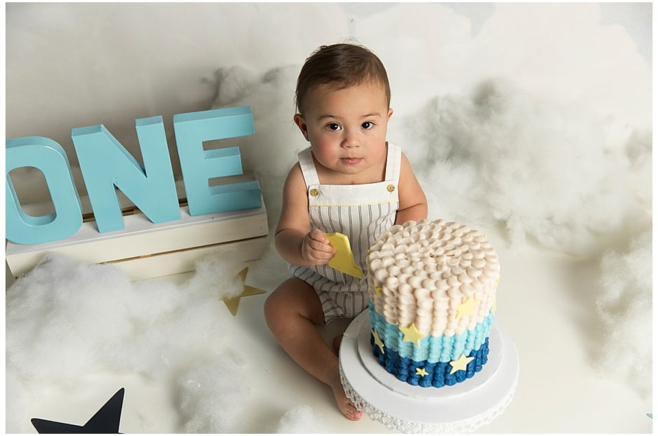 Baby L   One-Year Cake Smash   Delaware Baby Photographer